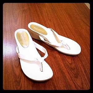 White shoes with small heal